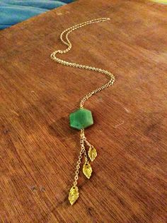 drum circle long chain necklace // teal stone & by Byachadjewelry