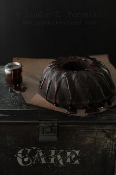 ... dark chocolate cake ...