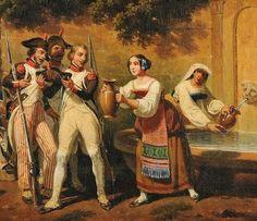 Les troupes de Napoléon dans le Lazio (Italie), Hippolyte Lecomte (détail)