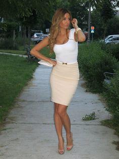 Elisabetta Franchi Skirt, Elisabetta Franchi Belt, Bcbg Shirt, Bcbg Clutch, Prada Shoes - Belgrade - Biljana Tipsarevic