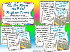 Amazing Oh The Places YouLl Go Inspired Graduation Program Mega