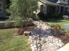 The steps stamped cement contoured stone house for Landscaping rocks temecula