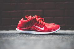 Nike Free Flyknit 4.0 Bright Crimson