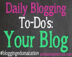 1. Figure out your Blog Posting Schedule and stay consistent with that same schedule. 2. Make sure you have a Pinnable Image for each of your posts. 3. Reply to at least 5 comments left on your blog. If you can respond to them all, do that! 4. Comment on 3 of your commenters' blogs. 5. Find 2 new blogs to comment on each day.