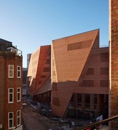 Irish architects O'Donnell + Tuomey mapped sight lines along the narrow streets of the London School of Economics campus to generate the faceted red brick structure of the university's new student centre