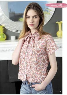 New free blouse pattern available on VeraVenus.com |  as seen in Making magazine