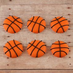 Basketballs Royal Icing Decorations | CaljavaOnline