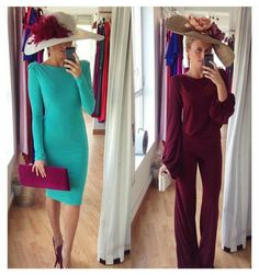 @rentalmode Derby Outfits, Outfits With Hats, Chic Outfits, Fashion Outfits, Kentucky Derby Outfit, Races Fashion, Bridesmaid Outfit, Wedding Hats, Vintage Glamour