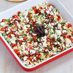 Healthy Mediterranean 7-Layer Dip Recipe