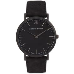 Larsson Jennings Svart black PVD watch ❤ liked on Polyvore