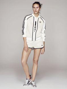Adidas Original X Farm DAMEN Grafik Windjacke Balance Selten