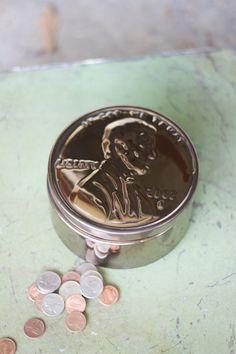 Ceramic Penny Coin Box