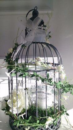 Frühling Frühlingsdeko Vogelkäfig Tischdeko Shabby Hochzeit Windlicht Ostern neu
