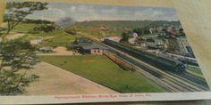 1910 Irwin PA 1 PRR Railroad Station Train Birds Eye Town View Postcard Repo | eBay