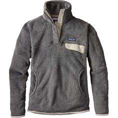 Patagonia Women's Re-Tool Snap-T Pullover - Small - Feather Grey / Ink Black X-Dye