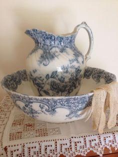 English Porcelain Wash Basin and Pitcher....