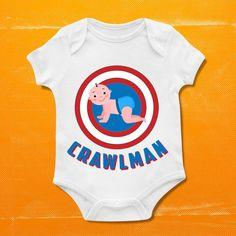 Crawlman, Boys Bodysuit, Boys Onesie,baby clothing,Baby Bodysuit,Baby Boy Bodysuit, Wild Child Style, Baby Gift, Custom onesie