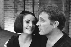 Elizabeth Taylor and Richard Burton - the look of love is in her eyes