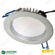 Silver - Warm White Atom 13W LED Dimmable Hi Output Fixed Downlight IP44 - LED Downlights - Downlights - Lighting - Shop - Lighting Illusions Online