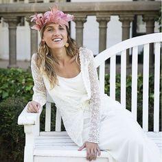 Tocados y Pamelas Olivia & Cloe Bridal Tips, Girls Dresses, Flower Girl Dresses, Pamela, Alma Mater, Wedding Dresses, Madrid, Fashion, Party Dresses