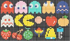 Cross stitch patterns but worls aldo for Hama or Perler beads.