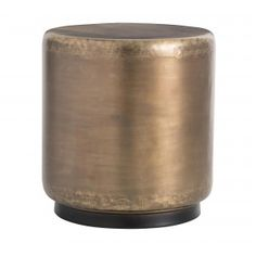 Bon This Iron Drum Shape Has Been Finished In Antique Brass With A Bronze  Plinth To Give