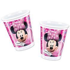 10 Disney Minnie Mouse  Pink 6.3oz Plastic Birthday Party Cups #Disney