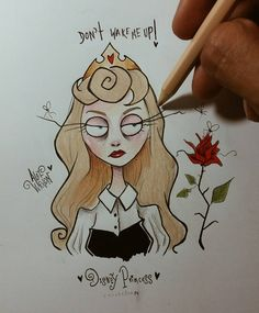 "Polubienia: 15.9 tys., komentarze: 293 – Alef Vernon (@alefvernonart) na Instagramie: ""AURORA - Don't wake me up! ⚘ I'm gonna make a Disney princess (with bored face) drawing collection.…"""