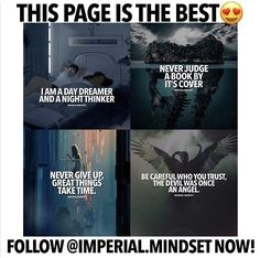 Follow the best motivational page on IG! Their posts are so deep! -  @imperial.mindset  @imperial.mindset  @imperial.mindset