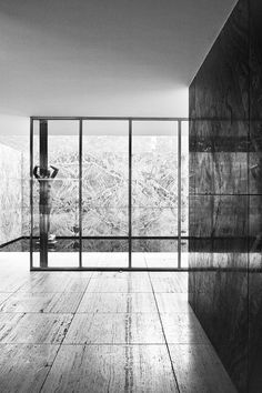 #6 An exceptional, rare view of the #Barcelona Pavilion, by #MiesvanderRohe.  Flawless.