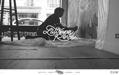 Website for the french collective, gallery and art store L'attrape rêve.