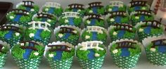 Girl Scout bridging ceremony cupcakes