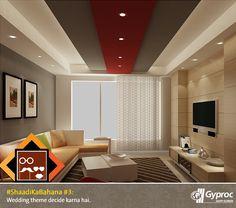 Living Room False Ceiling Gypsum Board Drywall Plaster