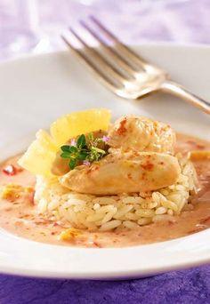 Recette minceur Jenny Craig : Escalope de poulet à l'ananas et lait de coco - Régime Jenny Craig : les recettes minceur du régime Jenny Craig