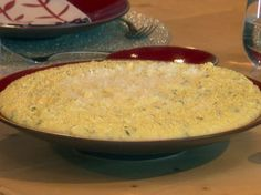 Cheesy Polenta from FoodNetwork.com - I love serving this with my Roasted Veggie Pot Roast, such an amazing combo!