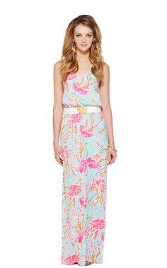 Lily Pulitzer - Mills Racerback Maxi Dress in Jellies Be Jamin' print