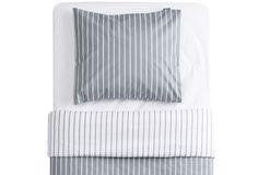 Familon Ultra -pussilakanasetti raita tummanharmaa/valkoinen - Tekstiilit