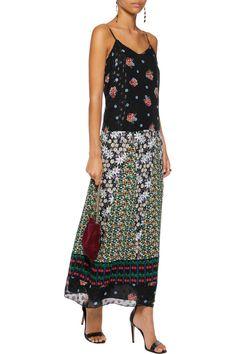 Anna SuiSilk fil coupé and jacquard maxi dress