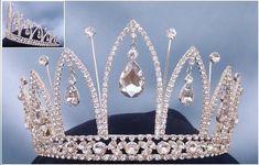 Royal silver rhinestone crown tiara - Crown Designers - Rhinestone Crowns, Tiaras & Scepters