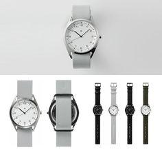 Wristwatch by Naoto Fukasawa Naoto Fukasawa, Design Industrial, Plus And Minus, Contemporary Jewellery, Jewelry Watches, Objects, Minimalist, Wristwatches, Glasses