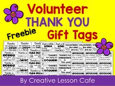 Volunteer Gift Ideas and FREE Printable Tags