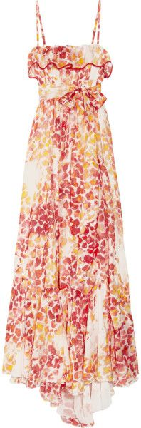 Just  Cavalli  Printed Cotton and Silkblend Voile Maxi Dress @Lyst