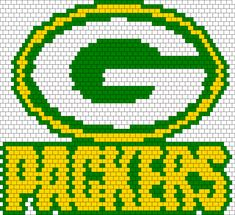 Green Bay Packers Bead Pattern