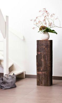 GroBartig Für Blumenvasen In Ihre Interieur! Bootspfahl Sockel Von Solits Pfahl,  Sockel, Holzkunst,