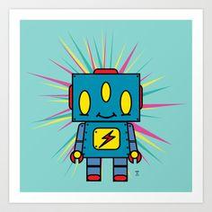 Vintage Kid Robot Art Print by Eric Wirjanata - $21.00