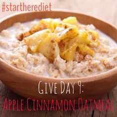 Clean Eating Apple Cinnamon Oatmeal. Leave out the butter, salt and sugar, add flaxseed and raisins.