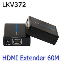 HDMI 1080P Over Ethernet CAT5e CAT6 LKV372 LAN Extender Transmitter +Receiver RJ45 CAT5E CAT6 For HD DVD PS3 Projector US /EU/AU #Affiliate