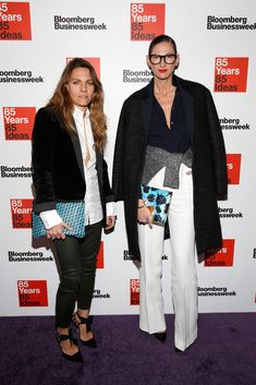 Courtney Crangi and Jenna Lyons attend Bloomberg Business week's 85th anniversary celebration at the American Museum of Natural History