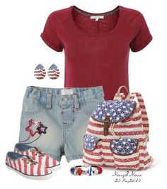 """""""Happy Memorial Day"""" by octobermaze ❤ liked on Polyvore featuring White Stuff, Candie's, Carole, Keds and Bling Jewelry"""