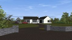 Traditional Large Style Bungalow providing our client with large living spaces, maximizing comfort and practicality. Bungalow Renovation, Bungalow House Plans, Bungalow House Design, House Designs Ireland, Old School House, Living Spaces, Exterior, Windows, Traditional